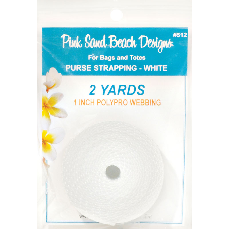 Purse Strapping 1 x 2yd White