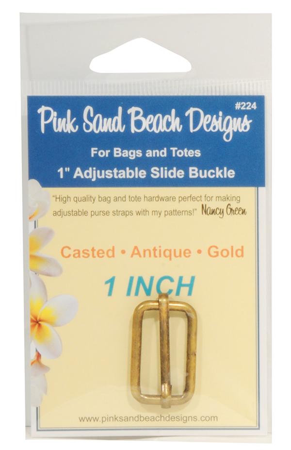 Adjust Slide Buckle/Ant Gld 4ct