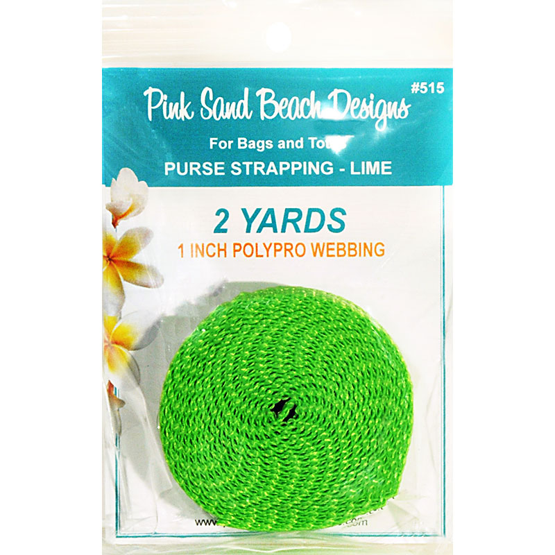 Purse Strapping 1 x 2yd Lime