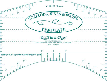Scallops, Vines, Waves Template by Quilt in a Day