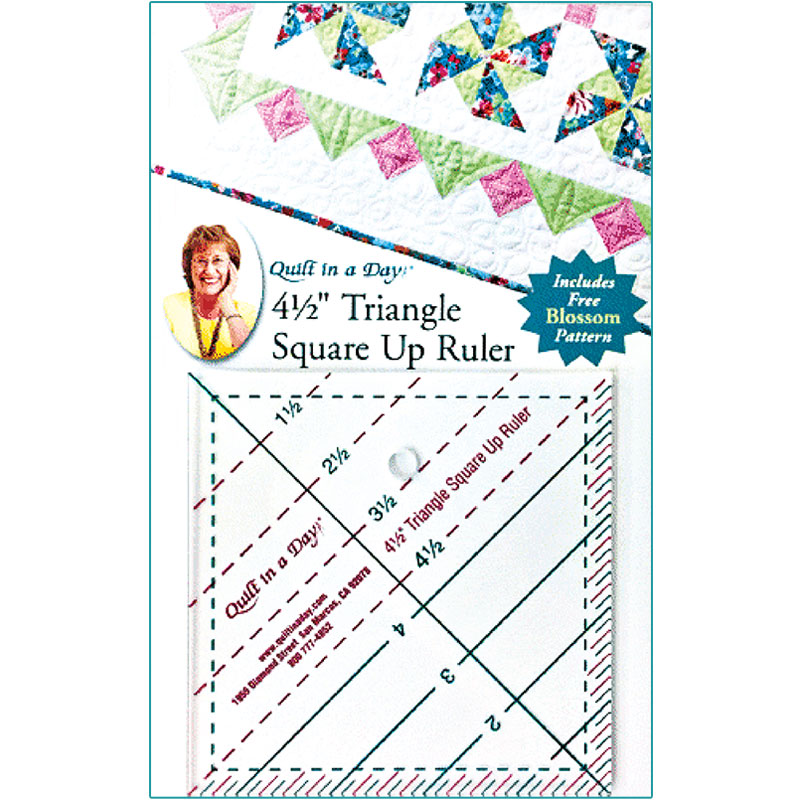 4 1/2 Triangle Square Up Ruler by Quilt in a Day