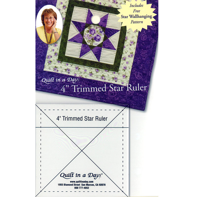 Quilt in a Day - 4 Trimmed Star Ruler - Made in USA
