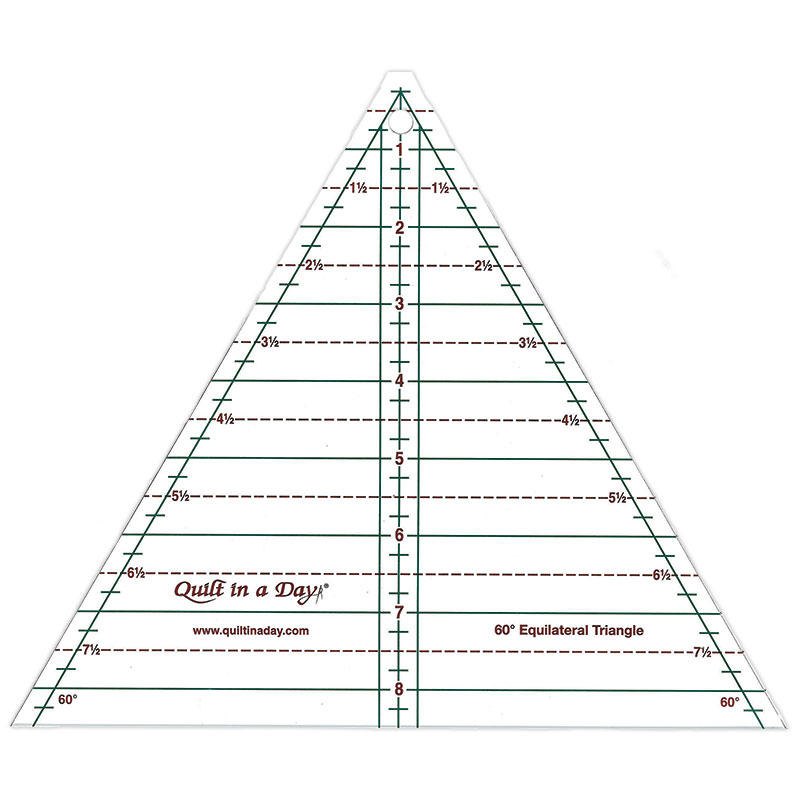 60 Degree Triangle Ruler 8.5