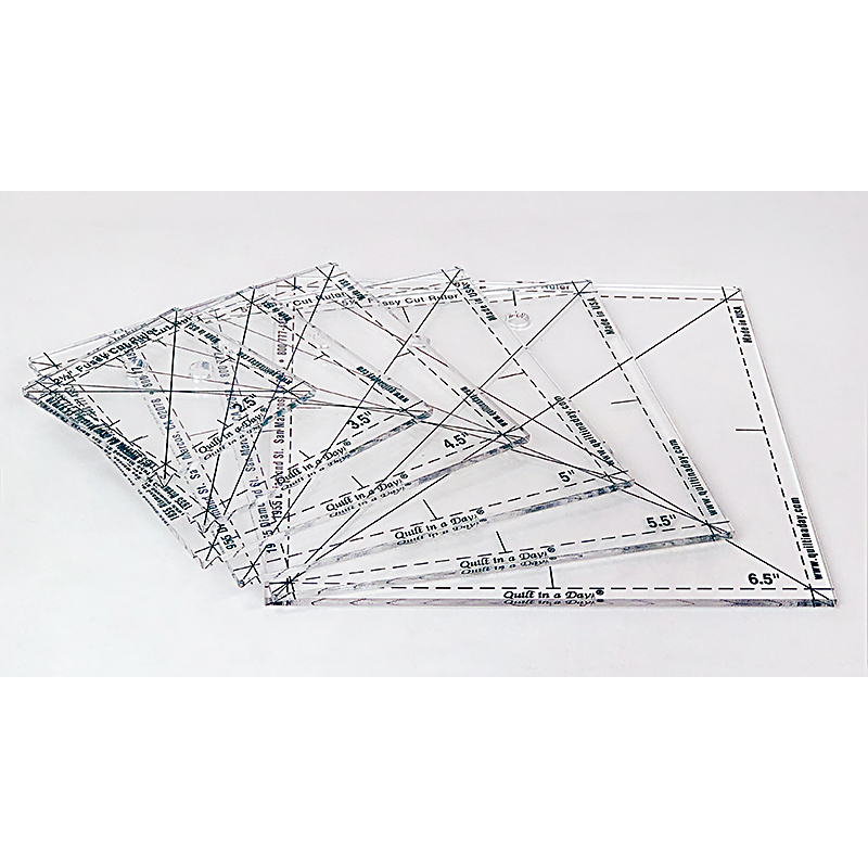 Complete Fussy Cut Rulers Set of 6 *