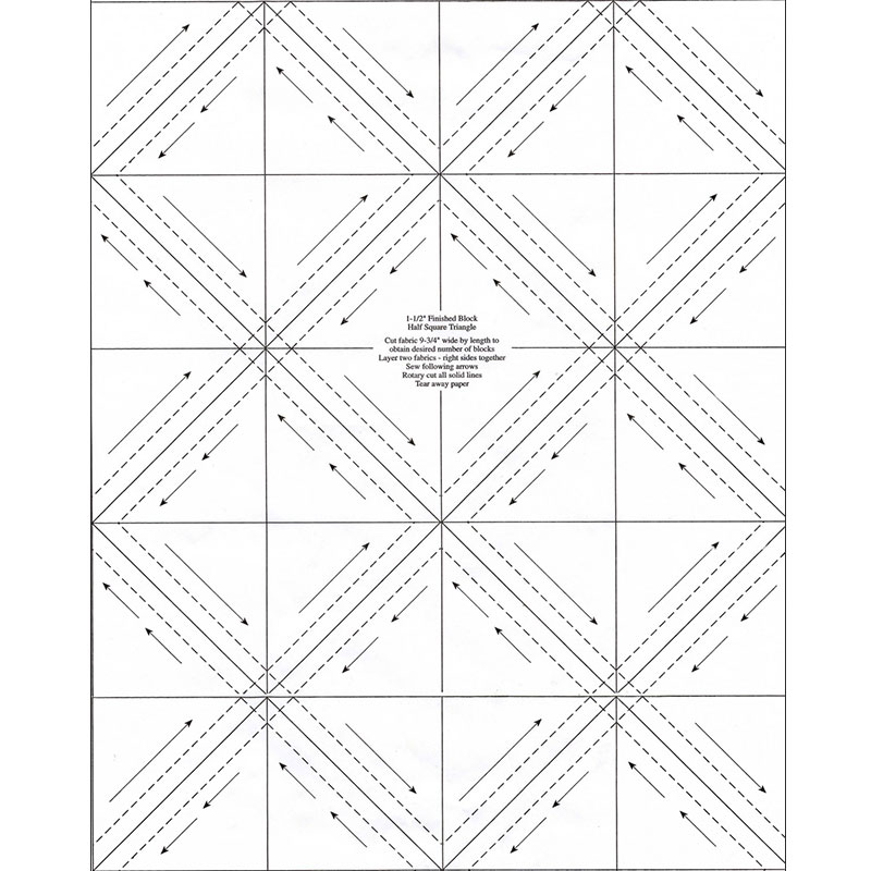 Triangles on a Roll 1-1/2in Half Square