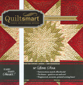 Quiltsmart Lone Star interfacing and instructions for 38x38 piece