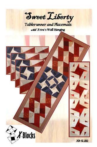 X Blocks Sweet Liberty Tablerunner/ Placemat
