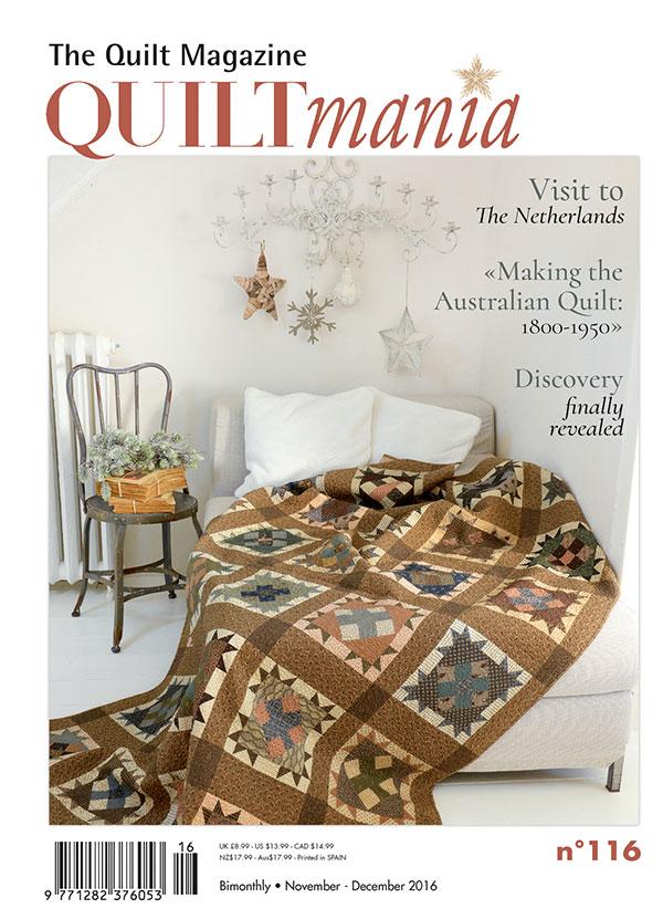 Quiltmania Magazine #116 November-December 2016
