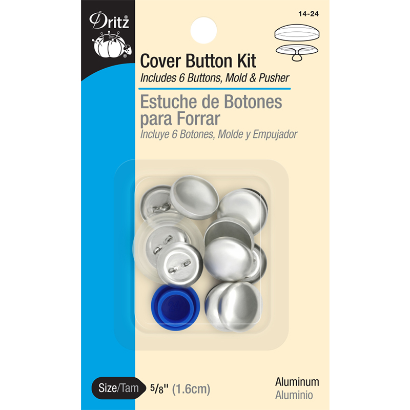Cover Button Kit 5/8 Sz 24