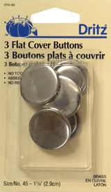 Flat Cover Buttons 1 1/8