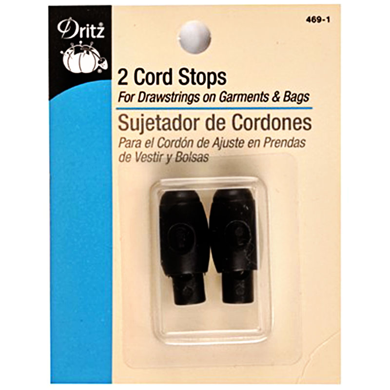 Cord Stops 2 ct Black
