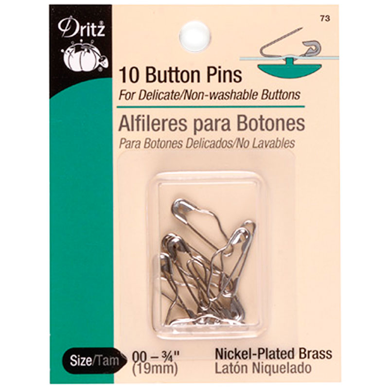 Button Pins Size 00 10ct Nickel