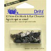 Dritz Sew On Pant Hook & Eye 12