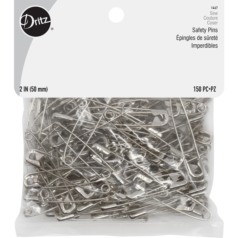Safety Pins Sz3 150ct Nickel