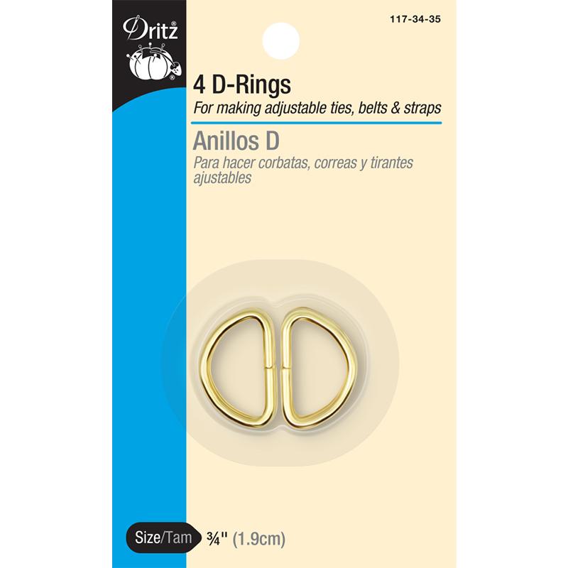 D Rings 3/4 4ct Gilt
