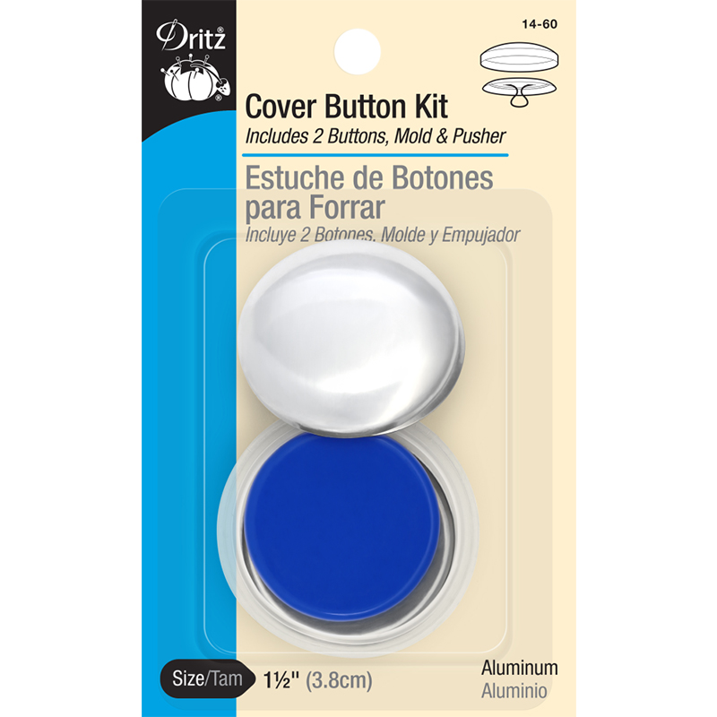 Cover Button Kit 1 1/2 Sz 60