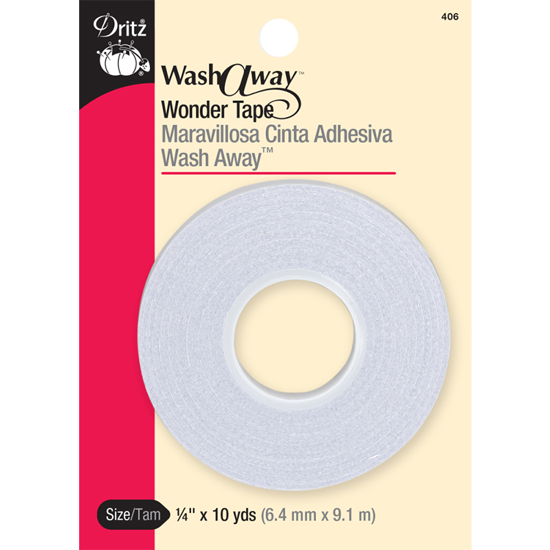 Wash Away Wonder Tape 1/4 x10yd 406
