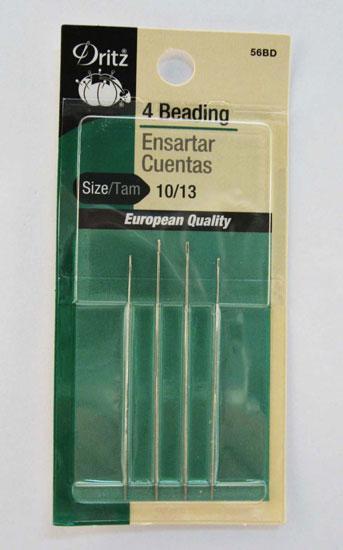 Dritz Beading Hand Needle sz10/13 4ct
