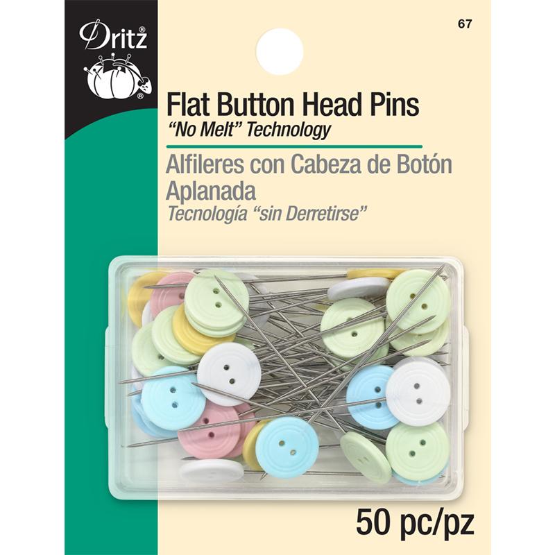 Flat Button Head Pins 50ct