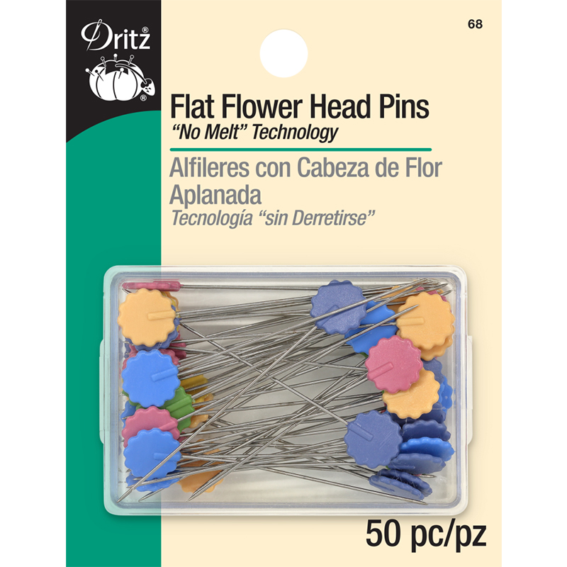 Flat Flower Head Pins 50ct