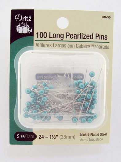 Long Pearl Pin 1.5 100ct Turquoise
