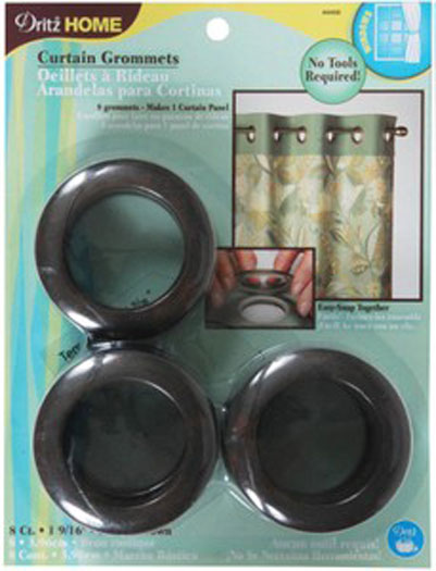 Dritz Curtain Grommets Rustic Brown 1 9/16in 8ct