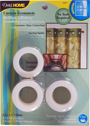 Dritz Curtain Grommets White 1in 8ct