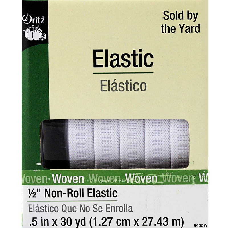 1/2 White Non Roll Elastic