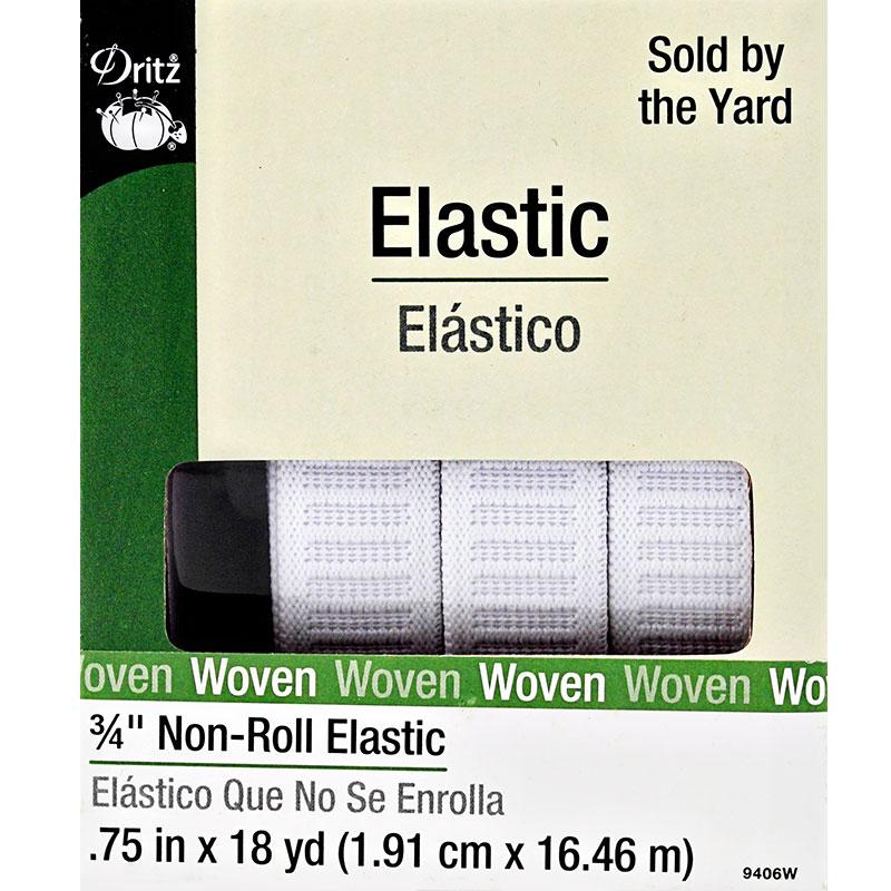 Non Roll Elastic 3/4' White
