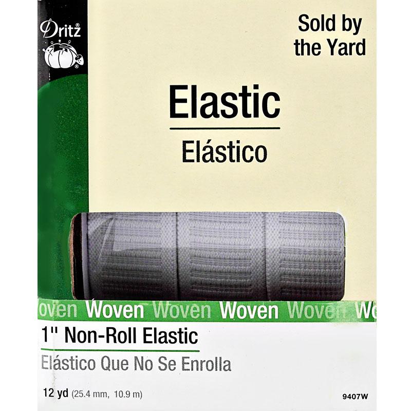 1 White Non-Roll Elastic