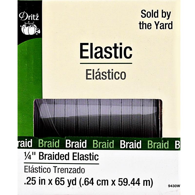 Dritz - Braided Elastic 1/4 White - 9430W
