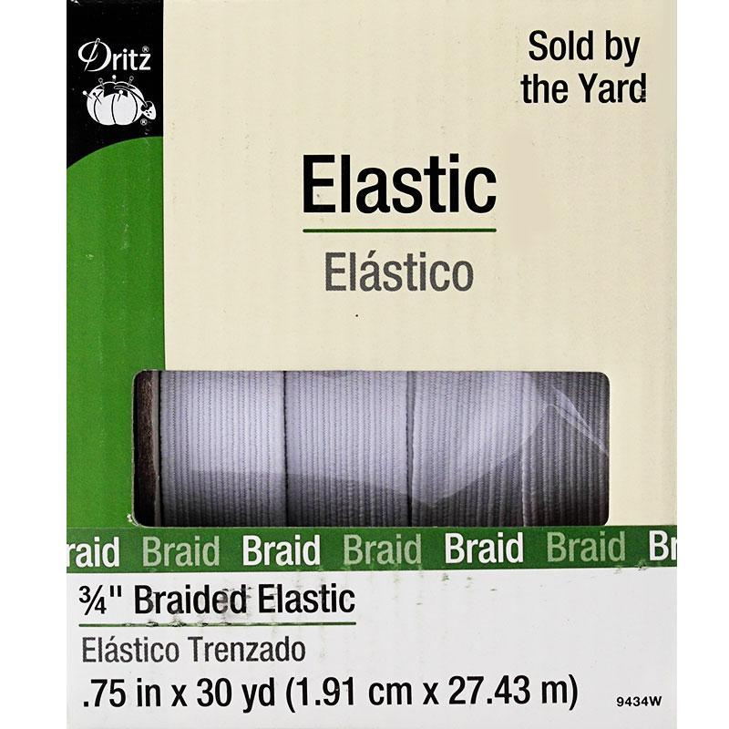 Braided Elastic 3/4 White