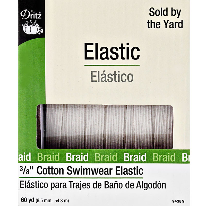 Cotton Swimwear Elastic 3/8 N