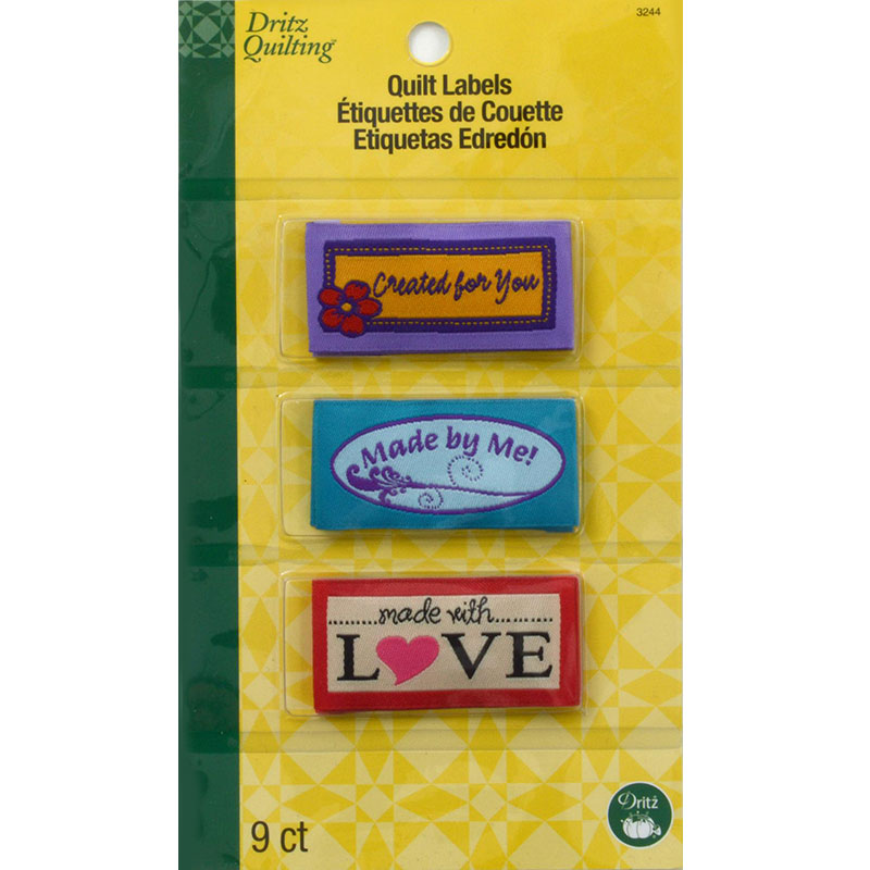 Sew In Embr Qlt Labels Assorted