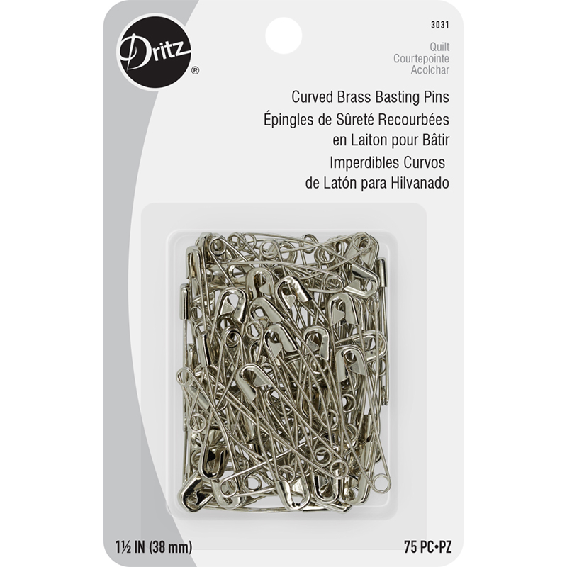 Dritz Curved Basting Pins Size 2 75ct