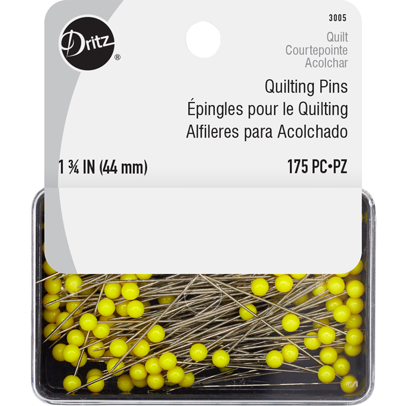 Quilt Pins 1 3/4 175ct Yellow