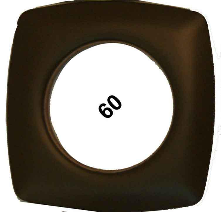 Grommets 40mm Square 8ct Matte Brown