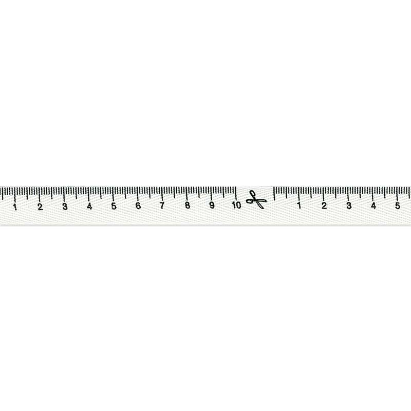 Tape Measure Ribbon 15mm White