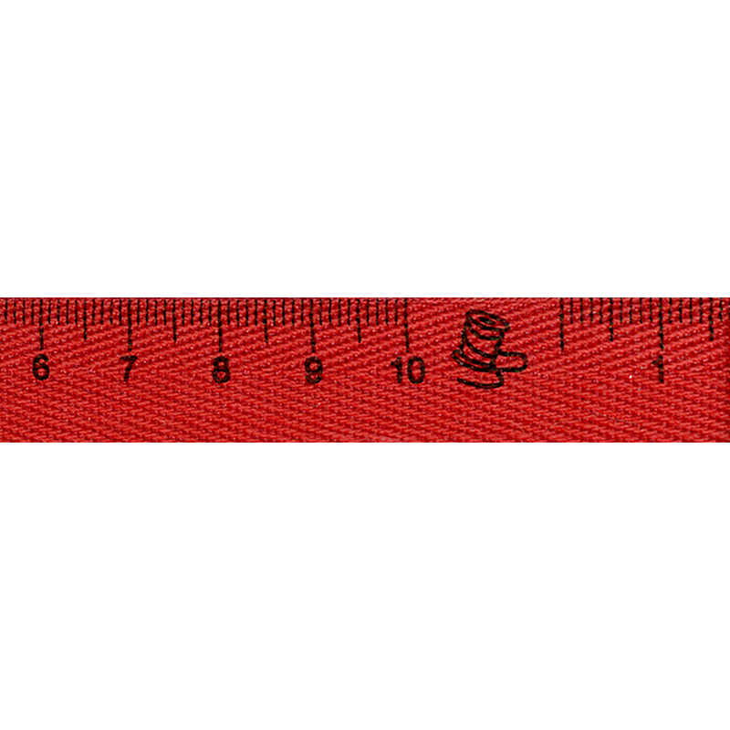 Tape Measure Ribbon 15mm Red