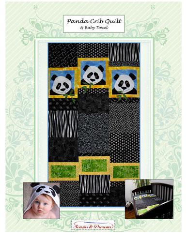 Panda Crib Quilt And Baby Towel