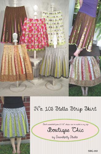Serendipity Studio The Stella Strip Skirt