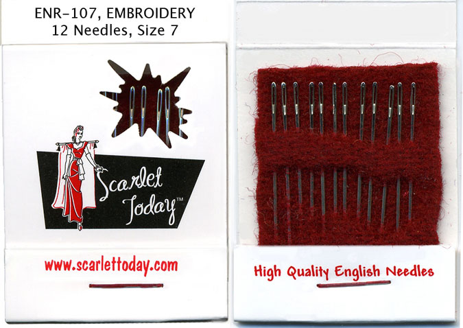 Scarlet Today Matchbook Needles Embroidery Size 7 ENR-107