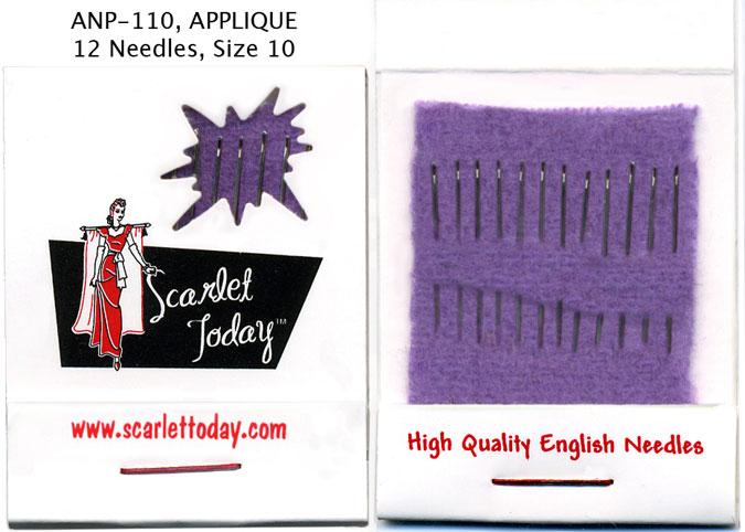 Matchbook Needle Applique sz10 - Scarlett Today
