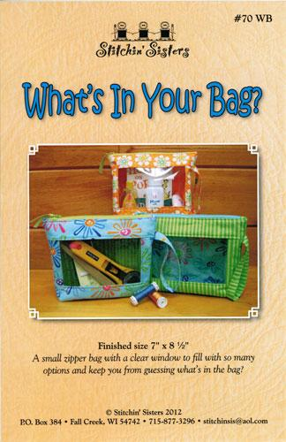 What's In Your Bag Pattern