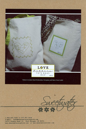 PTRN-1004 - Love Letters Tote Bags Pattern - Sweetwater