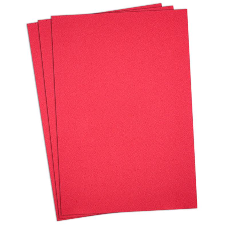 Puffy Foam 3mm Red 6in x 9in