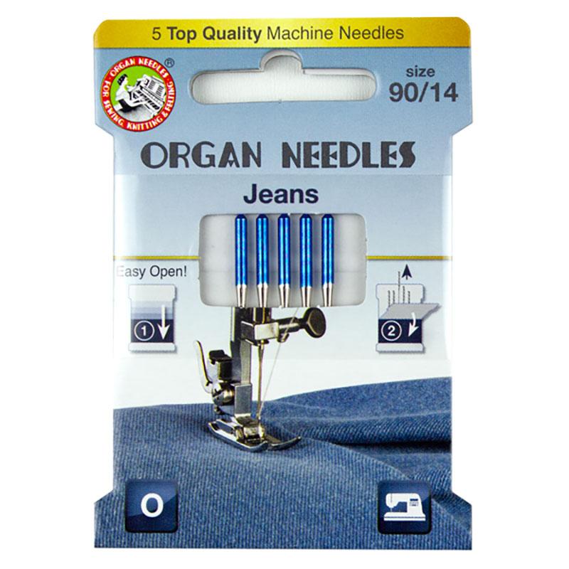 Organ Jean Machine Needle 90 5ct