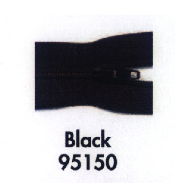Make A Zipper 197 Black per inch