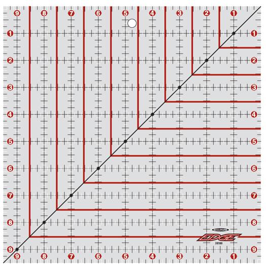 Cutting Edge Ruler 9.5 x 9.5