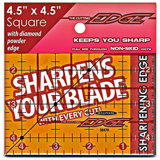 Cutting Edge Ruler 4.5x4.5 Clr